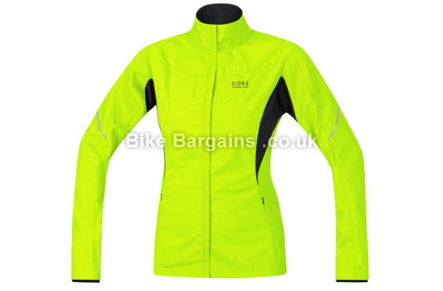 Gore Essential Lady Windstopper Active Shell Jacket black, yellow, 34, 36, 38