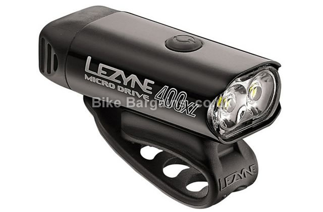 Lezyne Micro Drive 400XL Front Light 400 Lumens, 90g, silver