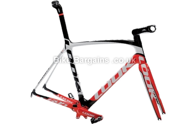 Look 695 SR I-Pack DI2 Team Replica Carbon Road Frameset red, S - inc frame, forks, seatpost, cranks, stem, BB