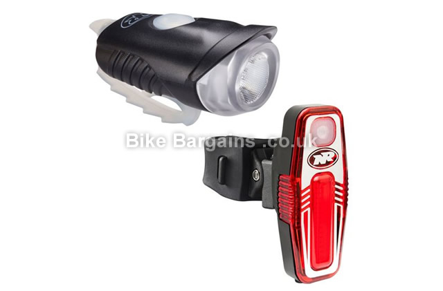 Nite Rider Lightning Bug Combo Front Rear Lights 150 Lumens, 35 Lumens, black