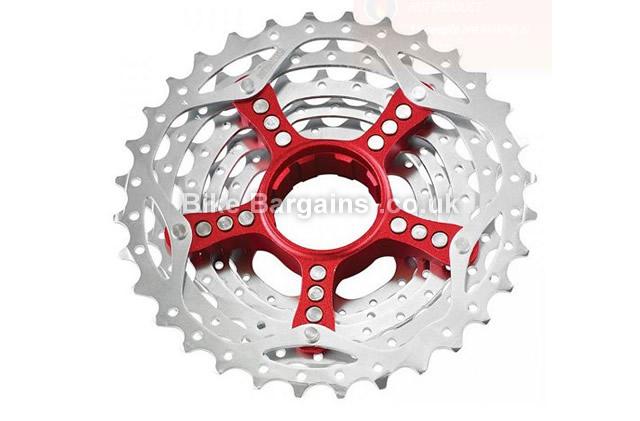 SRAM PG990 9 Speed Mountain Bike Cassette 11-32, red