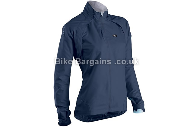 Sugoi Ladies Versa Cycling Jacket Windproof, Water Resistant, Breathable, XS,S,M, Blue Pink