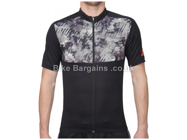 Adidas Trail Race EnergyCamo Short Sleeve Jersey XS,S, Black