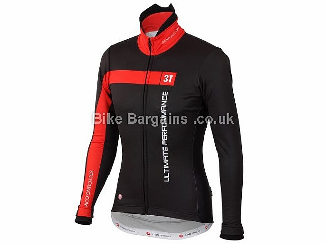 Castelli 3T Team Ladies Jacket 2016 XL, Black, Red, some options are slightly extra, Women's, Long Sleeve
