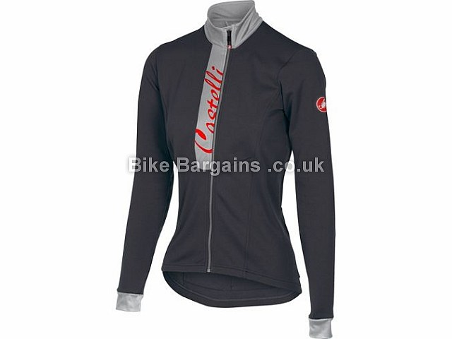 Castelli Ladies Sorriso Thermal Jersey XS,S,M,L, Black, Red