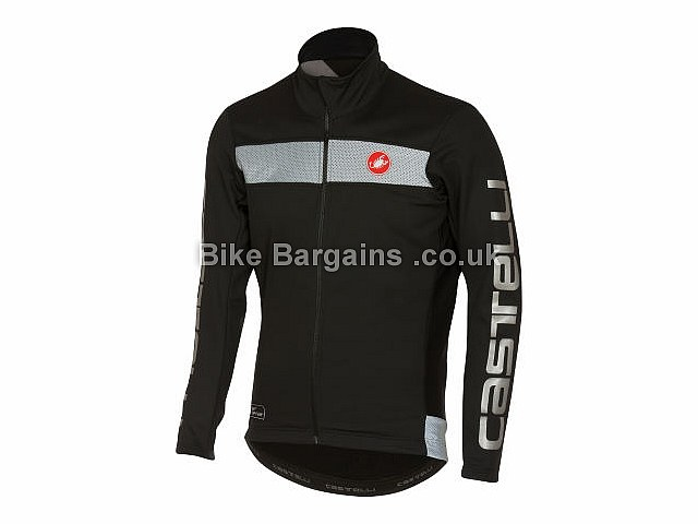 Castelli Raddoppia Thermal Windstopper Jacket S, M, L,XL, Black, Grey