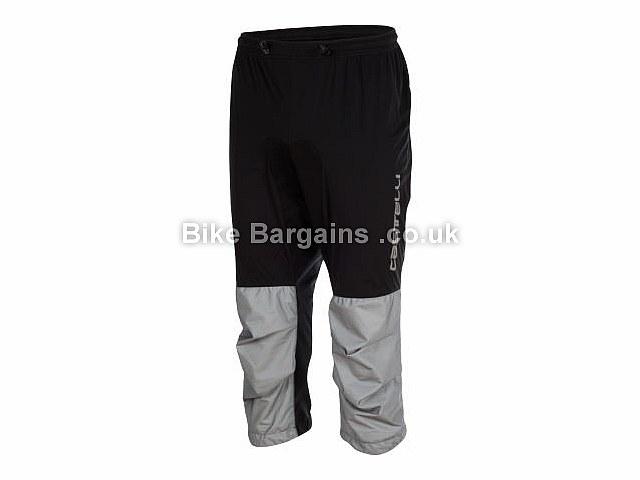 Castelli Tempesta Three Quarter Waterproof Pants M, Black, Grey