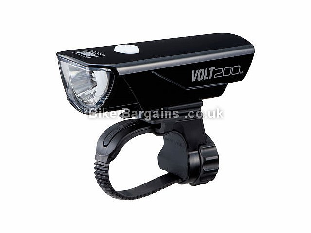 Cateye Volt 200 Lumens RC Front Light Black, 200 Lumens