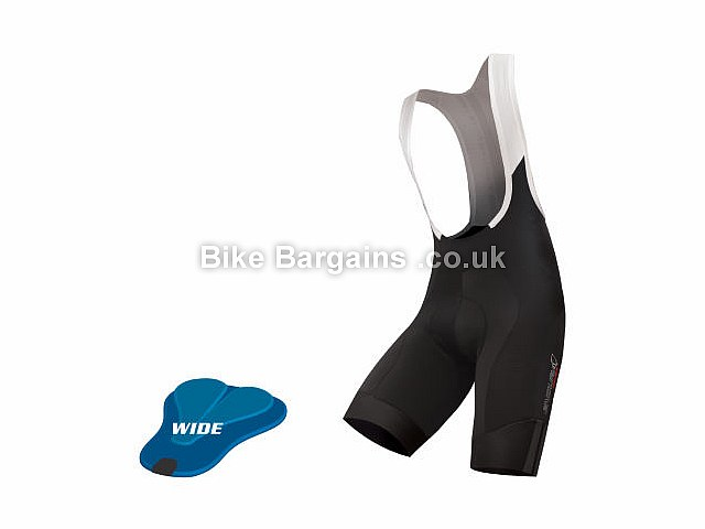Endura FS260 Pro SL Wide Pad Bib Shorts XS,S,M,L,XL, Wide Padding