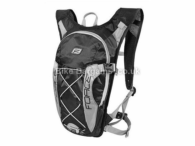 Force Aron Hydration Back Pack Black, Grey, Black, Yellow, 10 Litres