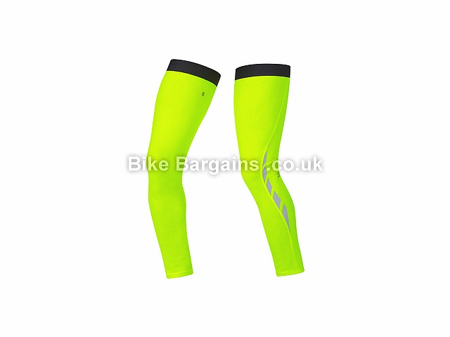 Gore Bike Wear Visibility Thermal Road Leg Warmers Yellow, S
