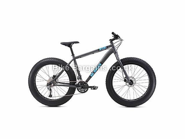 """SE Bikes F@E 26 inch Fat Bike Hardtail Mountain Bike 26"""" - 19"""", 21"""", Grey"""