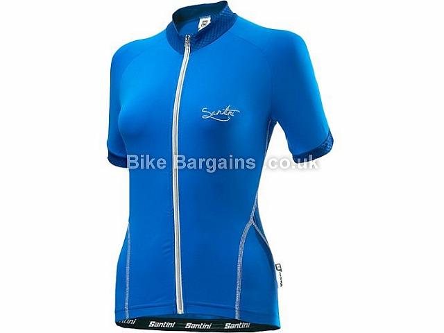Santini Monella Ladies Road Short Sleeve Jersey M, Black