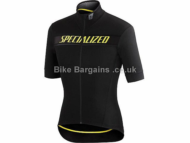 Specialized SL Elite Wr Ss Water Resistant Jersey 2016 XL, Black, Yellow