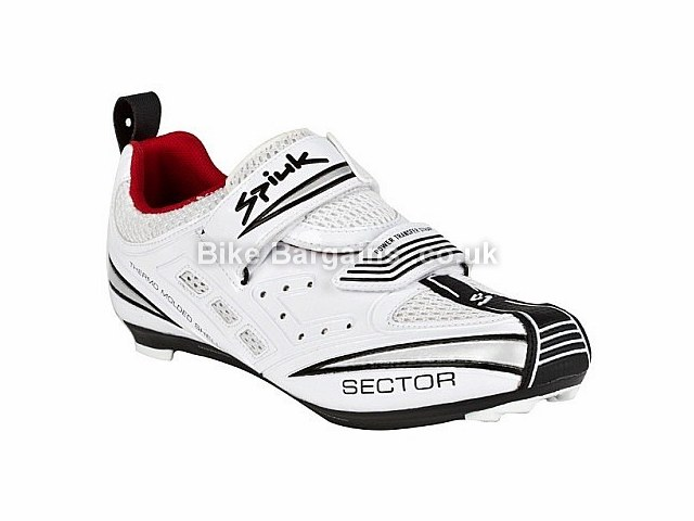 Spiuk Sector Triathlon Cycling Shoes White, Silver, 49