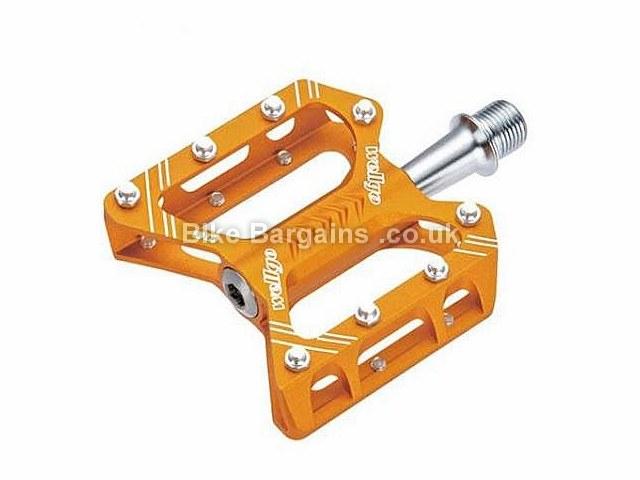 Wellgo C162 CNC Sealed MTB Platform Pedals Gold, Silver