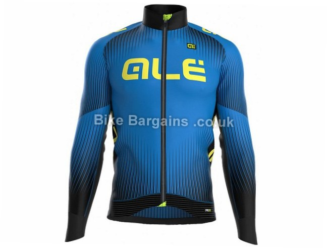 Ale PRR Krakatoa Long Sleeve Cycle Jersey M, Blue, Black