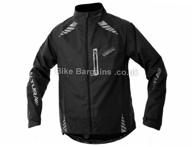 Altura Night Vision Waterproof Cycling Jacket S, Black, LED