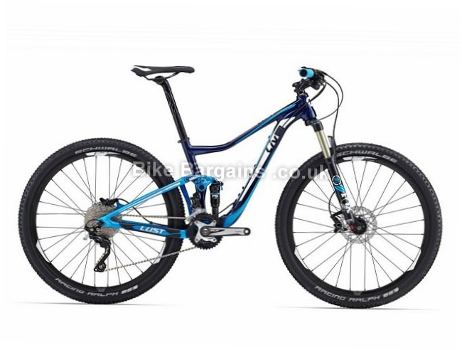 Giant Lust 1 Ladies XC Mountain Bike 2016 M, Blue, 27.5""