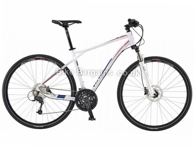 gt transeo 2 sports hybrid city bike 2016 was sold for  u00a3420   l  white  alloy  700c