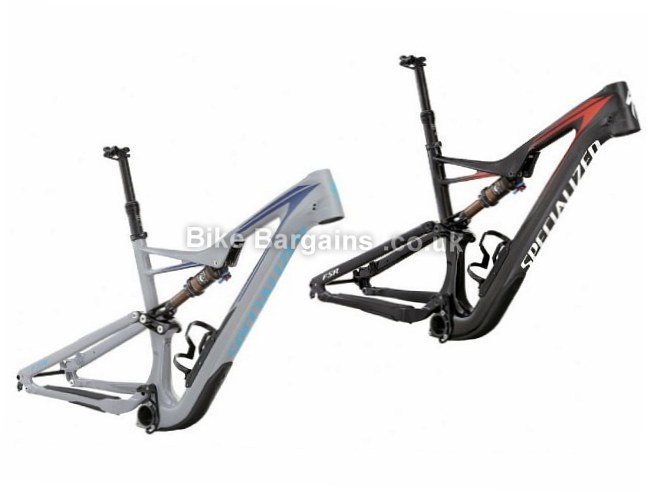 "Specialized Stumpjumper FSR Carbon 650b 27.5"" Mountain Bike Frame 2016 M, red"