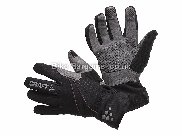 Craft Siberian Windproof Cycling Gloves Black, Grey, M