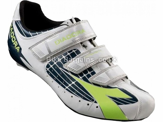 Diadora Trivex SPD-SL Road Shoes  37, White, Yellow, Silver, Black