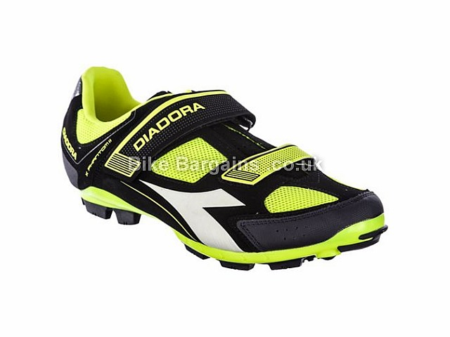 Diadora X Phantom II MTB SPD Shoes 37,38,39,40,41,42,43,44,45,46,47,48,49, Black, Yellow, Red, White