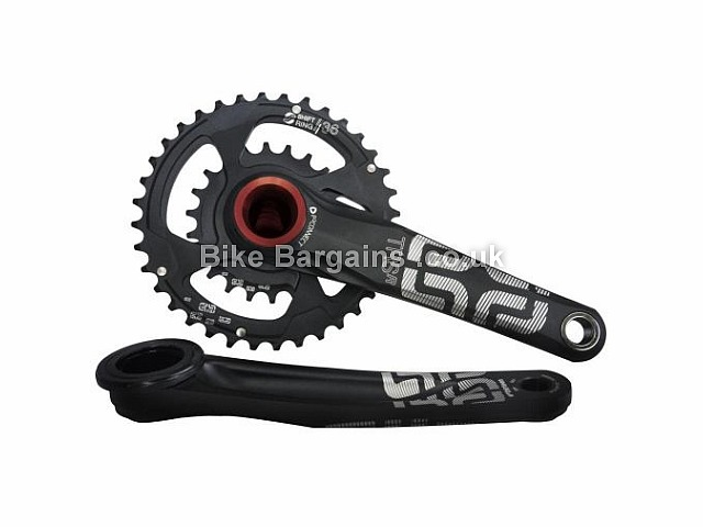 E Thirteen TRS Race AM Double Chainset 180mm, 38t, 24t, Black, Alloy, 10 speed, Double Chainring, MTB, 665g