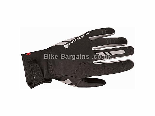 Endura Luminite Thermal Full Finger Gloves 2017 XS,S,XXL, Black, Full Finger, Gel, Velcro