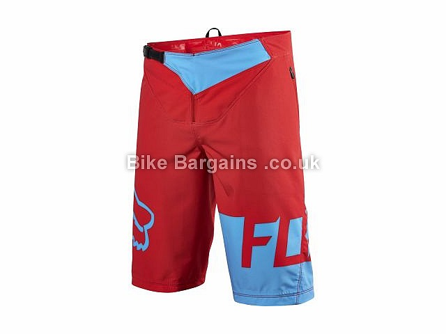 Fox Clothing Flexair MTB Shorts Black, White, Blue, Red, 34