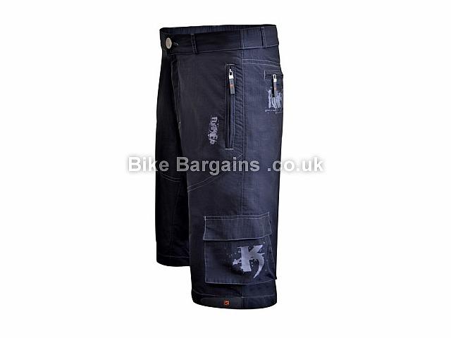 Funkier MTB Rider Baggy Cycle Shorts Black, XL