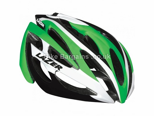 Lazer O2 Road Helmet 288g, Black, White, Yellow, S,M,L