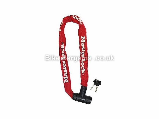 Master Lock Street Flexium Integrated Key Chain Bike Lock 900mm, Red