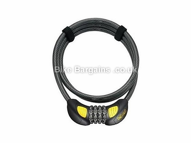 OnGuard Doberman Combo Illuminated Coil Bike Lock Black, Yellow, 185cm, 12mm