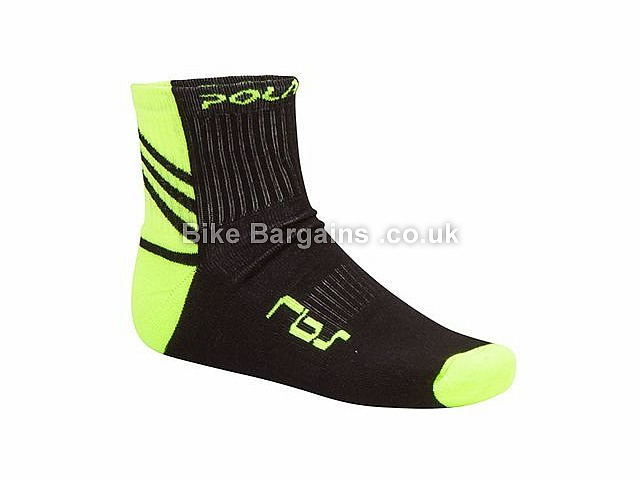 Polaris RBS Coolmax Commuter Socks S,M, Black,Yellow