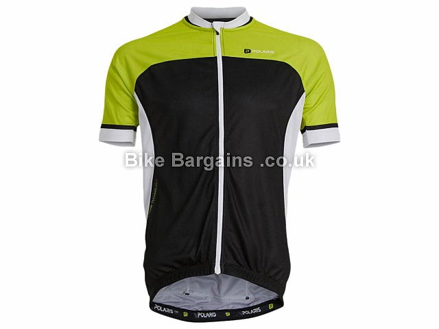 Polaris Bikewear Gran Fondo Short Sleeve Road Cycling Jersey S, L, Green, Black, Red, White