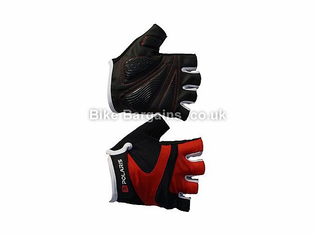 Polaris Contour Road Mitts S,M,L,XL, Black, Mitts, Gel, Synthetic Leather, Velcro