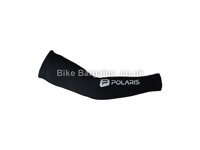 Polaris Thermal Lycra Cycling Arm Warmers XXS,XS,S,M,L,XL,Black