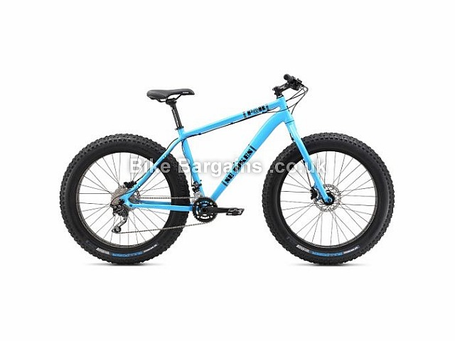 "SE Bikes F@R 26"" Alloy Hardtail Fat Mountain Bike 2017 26"", 21"", Blue, Alloy"