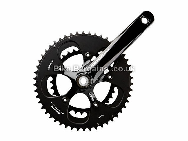SRAM Apex GXP Road Chainset 170mm, Black, Alloy, 10 speed, Double Chainring, Road, 890g
