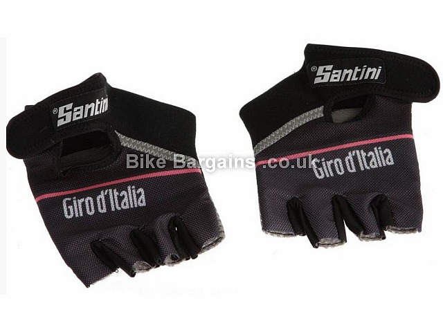 Santini Giro DItalia 2015 Event Race Line Road Mitts Black, XXL