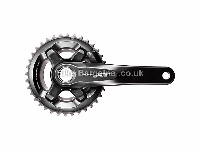 Shimano Deore XT M8000 11 Speed Double MTB Chainset 175mm, Black, Silver, Alloy, 11 speed, Double Chainring, MTB, 717g