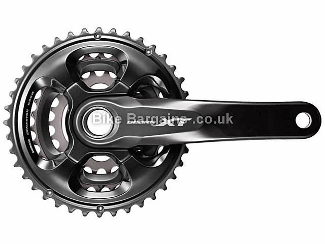Shimano Deore XT M8000 11 Speed Triple MTB Chainset 175mm, Black, Silver, Alloy, 11 speed, Triple Chainring, MTB, 773g