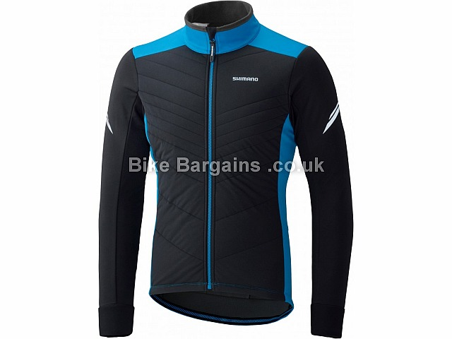 Shimano Performance Insulated Stretchable Windproof Jacket Black, Blue, S,M,L