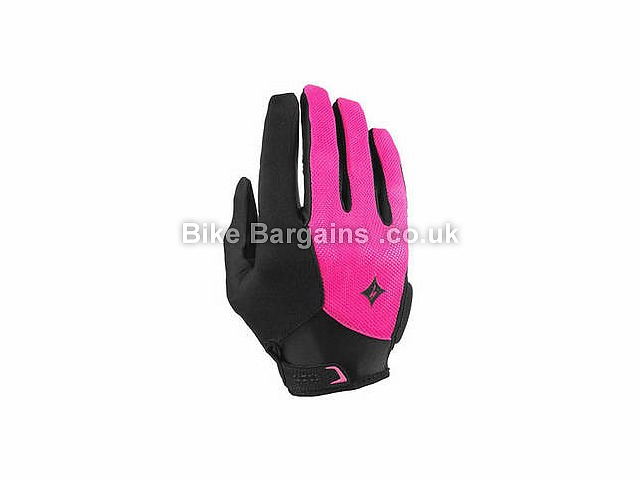 Specialized Ladies Body Geometry Sport Full Finger Gloves L, Black, Full Finger, Gel, Synthetic Leather, Velcro