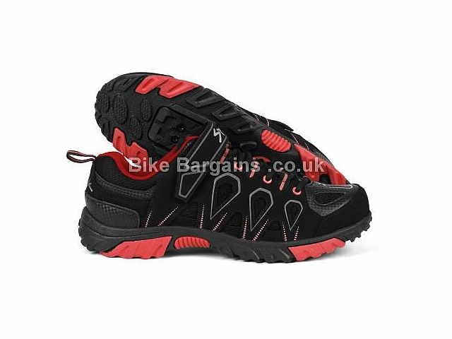 Spiuk Linze Velcro MTB Shoes Black, Red, Green, Blue, 37