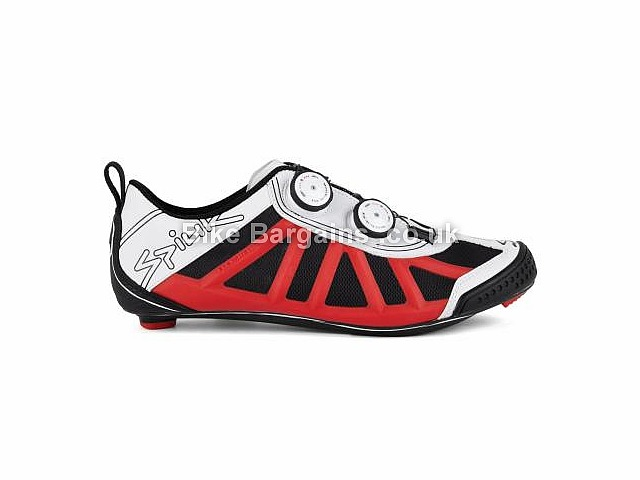 Spiuk Pragma Carbon Triathlon Shoes White, Red, Green, Black, 38