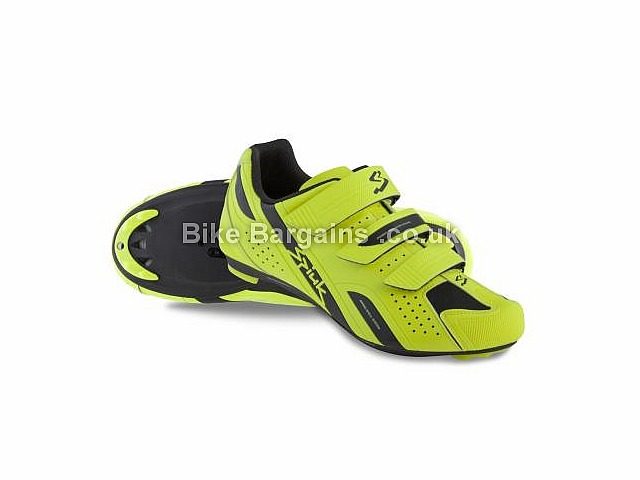 Spiuk Rodda Velcro Road Shoes 38,39,40,41,42,43,44,45,46,47,48, Yellow, Black, Red, White