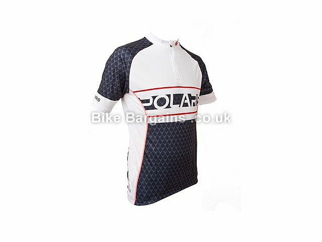 Venom Scale Short Sleeve Cycling Jersey S,M,L,XL, White, Black